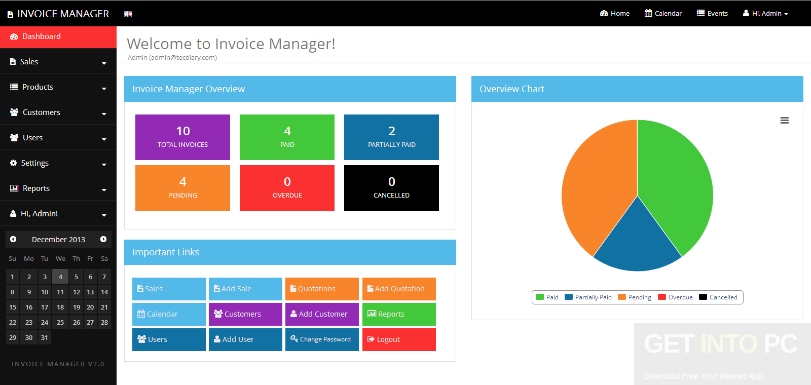 Invoice Manager Free Download