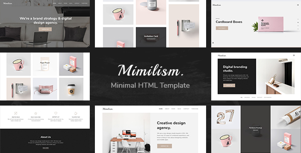 MIMILISM – CLEAN & MINIMAL PORTFOLIO HTML TEMPLATE