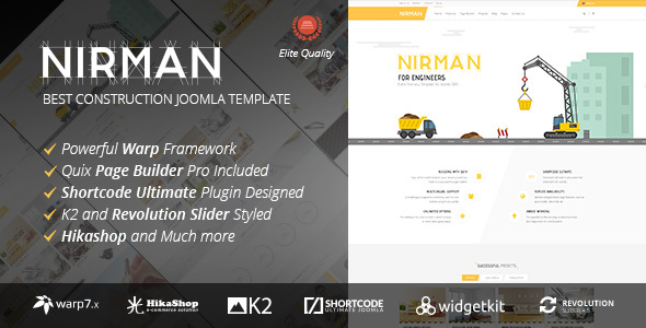 NIRMAN V1.1.5 – PROFESSIONAL CONSTRUCTION JOOMLA TEMPLATE