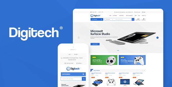 DIGITECH V1.0.5 – TECHNOLOGY THEME FOR WOOCOMMERCE