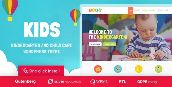 KIDS V1.1.5 – DAY CARE & KINDERGARTEN WORDPRESS THEME FOR CHILDREN