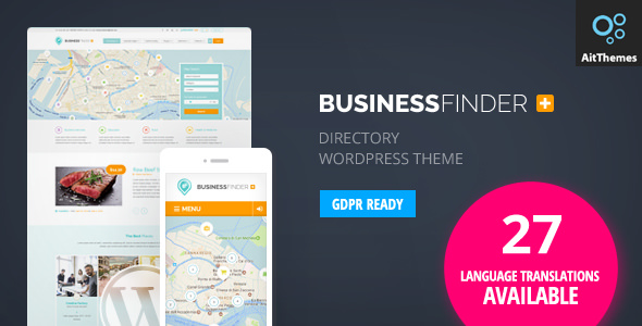 BUSINESS FINDER V2.48 – DIRECTORY LISTING WORDPRESS THEME