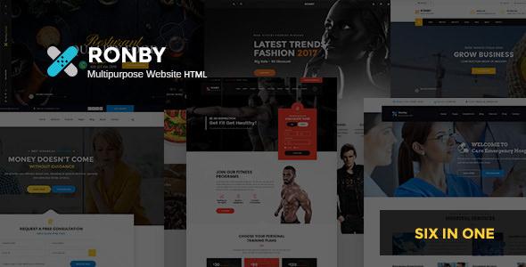 RONBY – 6 NICHE MULTI-PURPOSE HTML5 BOOTSTRAP 3 TEMPLATE