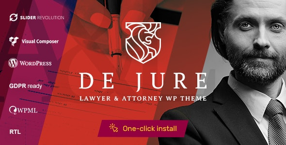 DE JURE V1.0.7 – ATTORNEY AND LAWYER WP THEME