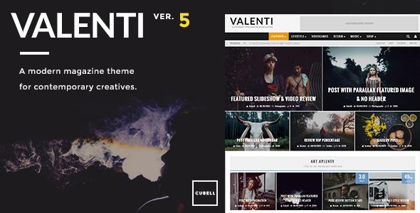 VALENTI V5.5.4 – WORDPRESS HD REVIEW MAGAZINE NEWS THEME