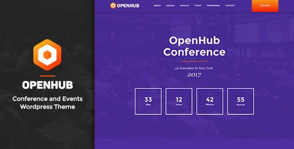 OPENHUB V1.3 – A STYLISH EVENTS & CONFERENCE THEME
