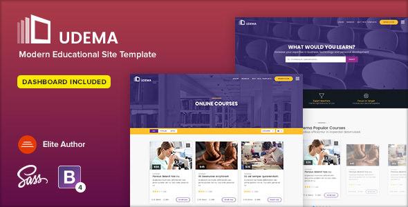 UDEMA – MODERN EDUCATIONAL SITE TEMPLATE