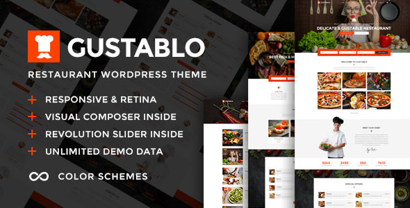 GUSTABLO V1.0 – RESTAURANT & CAFE RESPONSIVE WORDPRESS THEME