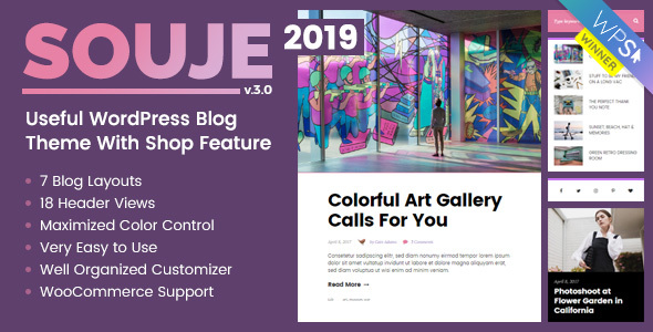 SOUJE V3.1 – PERSONAL WORDPRESS BLOG THEME