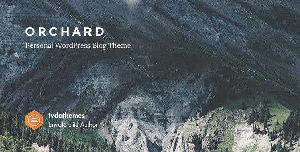 ORCHARD V1.0.6 – PERSONAL WORDPRESS BLOG THEME
