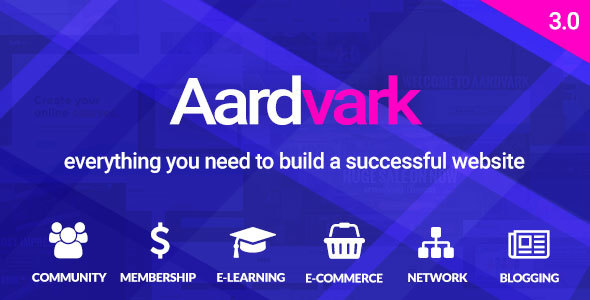 AARDVARK V3.0 – BUDDYPRESS, MEMBERSHIP & COMMUNITY THEME