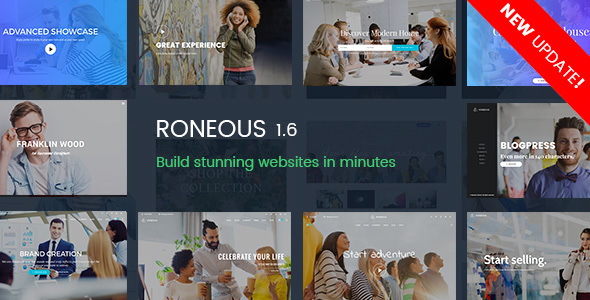 RONEOUS V1.6.8 – CREATIVE MULTI-PURPOSE WORDPRESS THEME