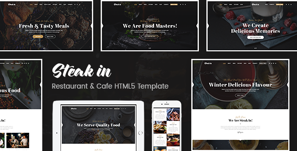 STEAK IN – RESTAURANT & CAFE HTML5 TEMPLATE