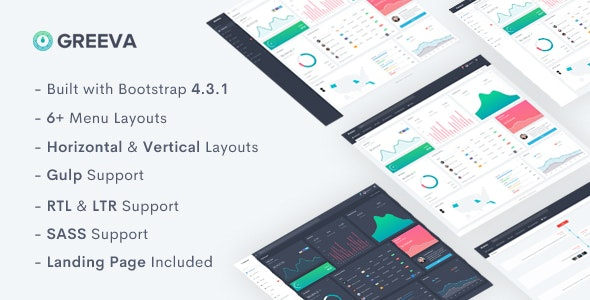 GREEVA V2.0 – ADMIN & DASHBOARD TEMPLATE