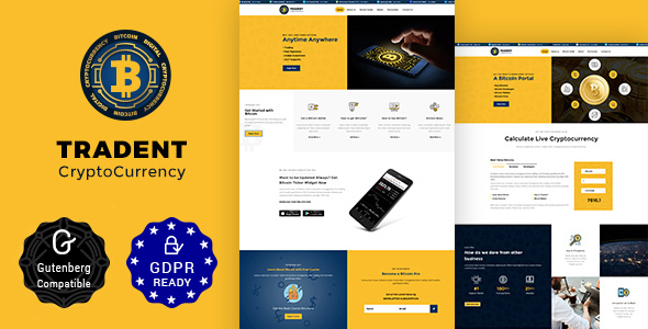 TRADENT V1.6 – BITCOIN, CRYPTOCURRENCY THEME