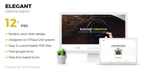 ELEGANT V1.0 – CREATIVE AGENCY PSD TEMPLATE
