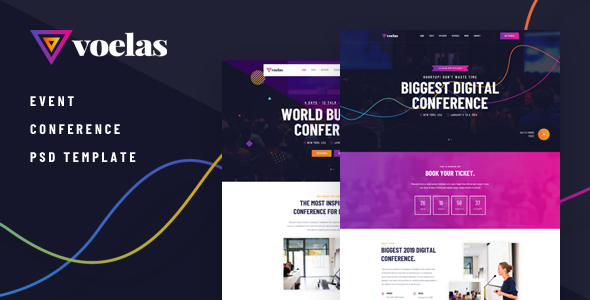 VOELAS – MODERN EVENT & CONFERENCE ORGANIZATION PSD TEMPLATE