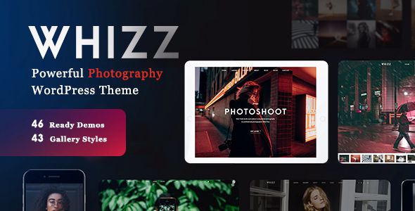 WHIZZ V1.4.9 – PHOTOGRAPHY WORDPRESS FOR PHOTOGRAPHY