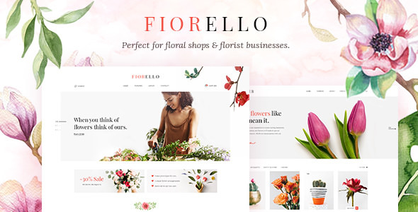 FIORELLO – A FLOWER SHOP AND FLORIST WOOCOMMERCE THEME