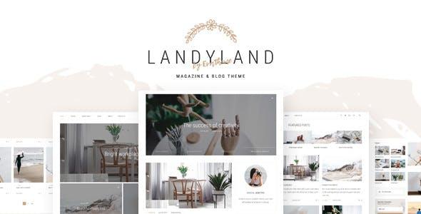 LANDYLAND V1.0 – RESPONSIVE CLEAN BLOG & MAGAZINE THEME