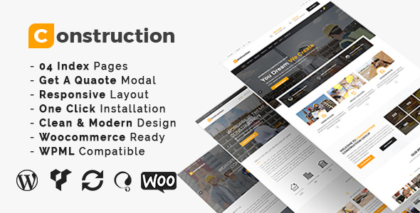 CONSTRUCTION V3.2 – CONSTRUCTION AND BUILDING BUSINESS THEME