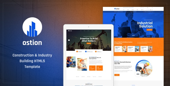 OSTION V1.0 – CONSTRUCTION & INDUSTRY BUILDING COMPANY HTML5 TEMPLATE