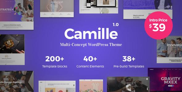 CAMILLE V1.0.3 – MULTI-CONCEPT WORDPRESS THEME