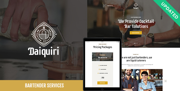 DAIQUIRI V1.0 – BARTENDER SERVICES & CATERING THEME