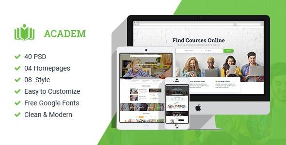 ACADEM – MULTICONCEPT COLLEGE & EDUCATION PSD TEMPLATE