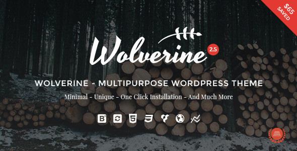 WOLVERINE V2.5 – RESPONSIVE MULTI-PURPOSE THEME