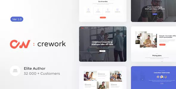 CREWORK V1.1.1 – COWORKING AND CREATIVE SPACE THEME