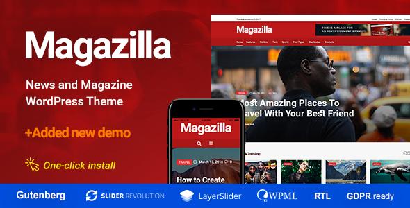 MAGAZILLA V1.0.3 – NEWS & MAGAZINE THEME