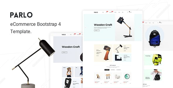 PARLO V1.0 – ECOMMERCE BOOTSTRAP 4 TEMPLATE
