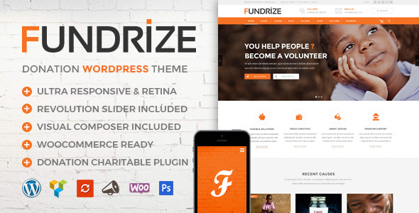 FUNDRIZE V1.4 – RESPONSIVE DONATION & CHARITY THEME