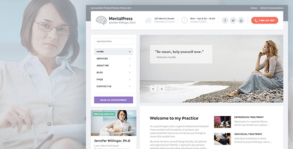 MENTALPRESS V1.11.4 – WP THEME FOR YOUR MEDICAL OR PSYCHOLOGY WEBSITE