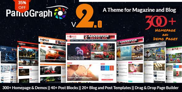 PANTOGRAPH V2.8 – NEWSPAPER MAGAZINE THEME