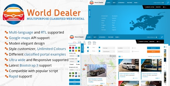 CAR DEALER V1.13 – CLASSIFIED DIRECTORY TEMPLATE