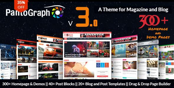 PANTOGRAPH V3.0 – NEWSPAPER MAGAZINE THEME