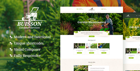 BUISSON V1.1 – GARDENING WORDPRESS THEME