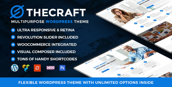 THECRAFT V1.2 – RESPONSIVE MULTIPURPOSE WORDPRESS THEME