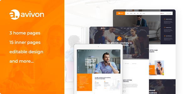 AVIVON – PURE BUSINESS CONSULTING & FINANCE PSD TEMPLATE
