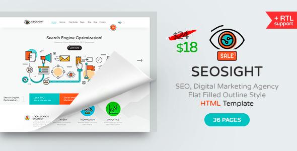 SEOSIGHT – SEO, DIGITAL MARKETING AGENCY HTML TEMPLATE