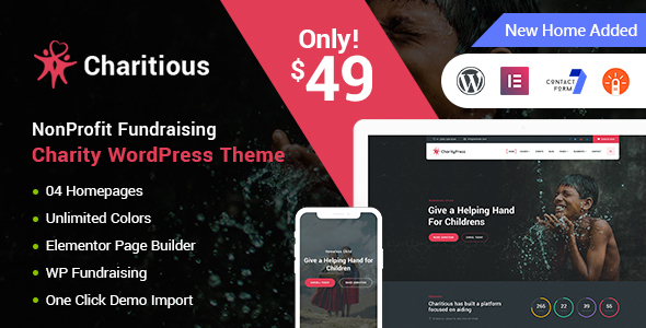 CHARITIOUS V1.7 – NONPROFIT FUNDRAISING CHARITY THEME