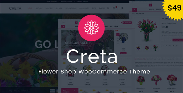 CRETA V3.4 – FLOWER SHOP WOOCOMMERCE WORDPRESS THEME