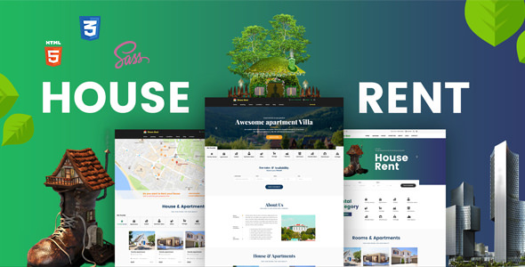 HOUSERENT – MULTI CONCEPT HOUSE, APARTMENT RENT HTML TEMPLATE