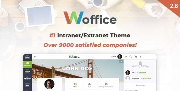 WOFFICE V2.8.1 – INTRANET/EXTRANET WORDPRESS THEME