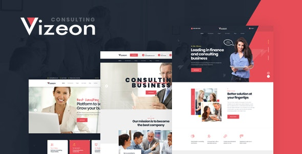 VIZEON V1.0 – BUSINESS CONSULTING HTML TEMPLATE