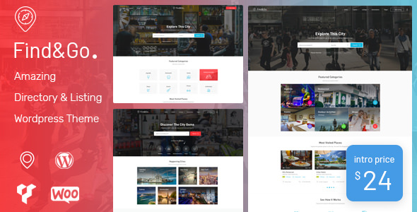 FINDGO V1.2.15 – DIRECTORY & LISTING WORDPRESS THEME