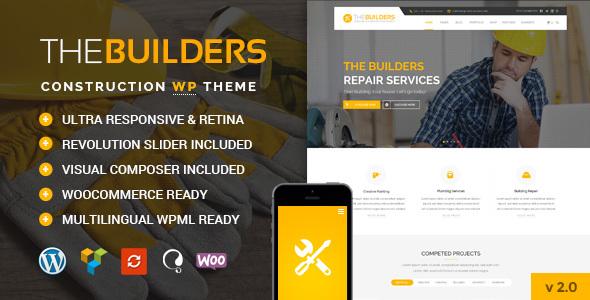 THE BUILDERS V2.5 – CONSTRUCTION WORDPRESS THEME