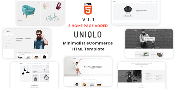 UNIQLO V1.1 – MINIMALIST ECOMMERCE TEMPLATE